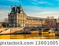 Louvre Museum and Pont ses arts, Paris - France 13601005