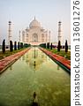 Taj Mahal at sunset, Agra, Uttar Pradesh, India. 13601276