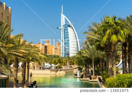 DUBAI, UAE - JANUARY 20: Burj Al Arab hotel on January 20, 2011 13601975