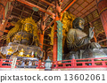 The Great Buddha at Todai-ji temple in Nara, Japan. 13602061
