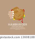 Hamburger vector illustration.  13608188