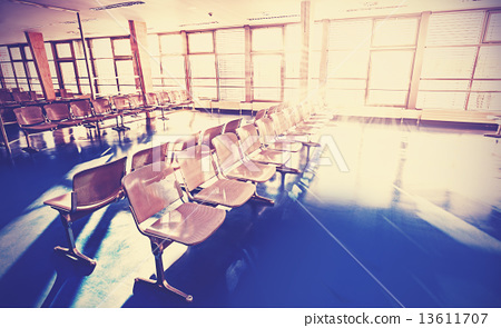 Stock Photo: Retro filtered picture of waiting room.
