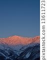 Shinshu Northern Alps Winter Hakubadake Morning glow image 13611723