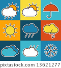 Colorful weather symbols 13621277
