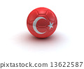 Turkish soccer ball 13622587