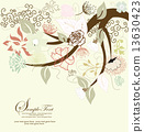 Abstract tree with floral elements 13630423