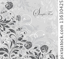 Vintage invitation card with ornate elegant retro abstract flora 13630425