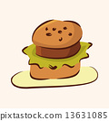 fast food hamburger flat icon elements,eps10 13631085