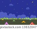營地 露營 矢量 13632047