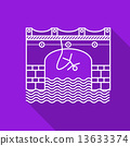 Flat line vector icon for rope jumping 13633374