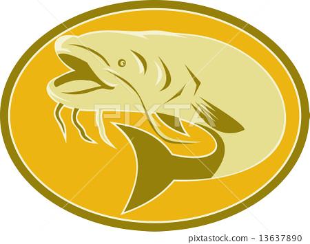 catfish fish retro 13637890