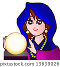 A woman who takes a crystal fortune 13639026