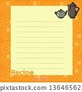 vector, recipe, blank 13646562