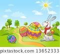 달걀, 페인트, 토끼 13652333