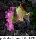 vector polygonal background pattern triangular design in dark full color - black, pink, green, blue 13654899