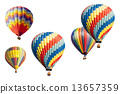 A Set of Hot Air Balloons on White 13657359