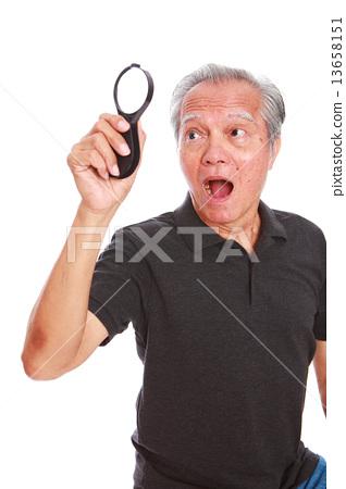 white background,old man, studio shot, businessman portrait suit,senior,formal, smiling, grin     13658151