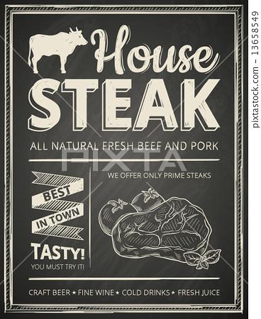 Steak house poster 13658549
