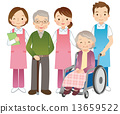 Elderly people and senior care givers 13659522
