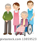 wheelchair, helper, elder 13659523