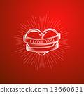 vector, tattoo, banner 13660621