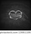 vector, tattoo, banner 13661106