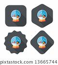 snow, gift, icon 13665744