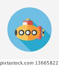 潜水艇 水下 交通工具 13665822