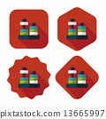 educational toy flat icon with long shadow,eps10 13665997