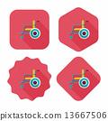 wheelchair wheel shadow 13667506