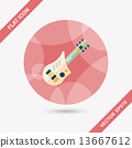 guitar toy flat icon with long shadow,eps10 13667612