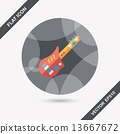 guitar toy flat icon with long shadow,eps10 13667672