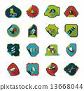 sticker background banner 13668044