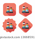 educational toy flat icon with long shadow,eps10 13668591