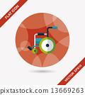 輪椅 輪子 車輪 13669263