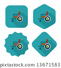 wheelchair wheel shadow 13671563