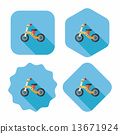 Kids Tricycle flat icon with long shadow,eps10 13671924