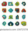 set, sticker, background 13672578