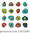 set, sticker, background 13672885
