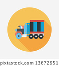 tow, truck, icon 13672951