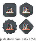 educational toy flat icon with long shadow,eps10 13673758