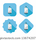 kitchenware paper flat icon with long shadow,eps10 13674207
