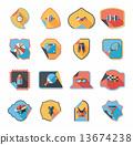 set, sticker, background 13674238