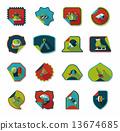 set, sticker, background 13674685