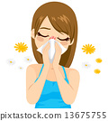 Allergy Suffering Woman 13675755