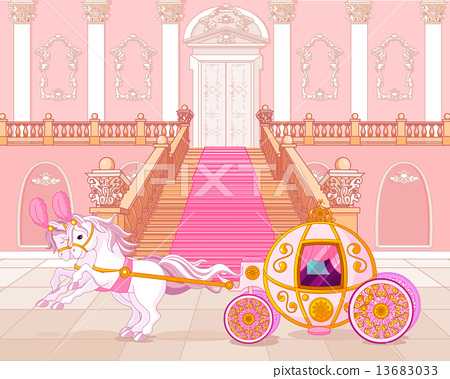 Fairytale pink carriage 13683033