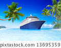 Cruise ship in the Summer time 13695359