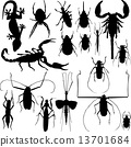 Insect silhouettes vector 13701684