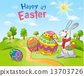 달걀, 페인트, 토끼 13703726