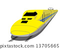 노란 신칸센 13705665